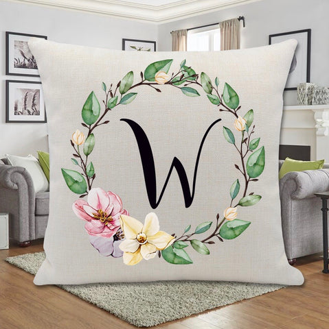 SPRING WREATH PILLOW