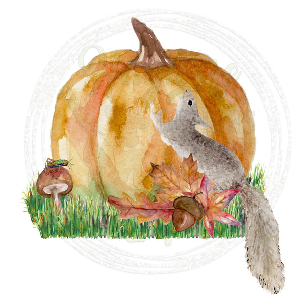 FALL SQUIRREL - 3 Designs WELCOME, THANKFUL, BLANK