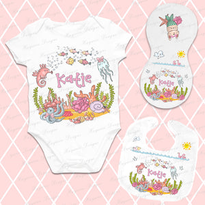 UNDER THE SEA BABY SET ~ GIRL