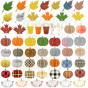 65 FALL ELEMENTS - Glitter, Shiney & Tartan (XL File)