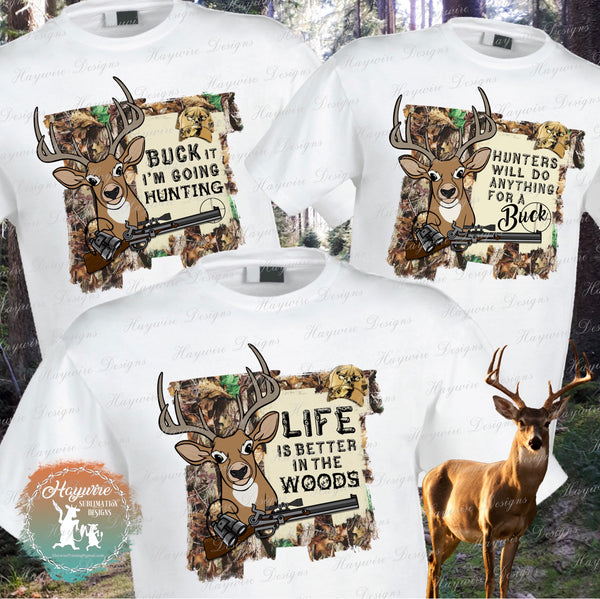 DEER HUNTER - 3 Different Designs