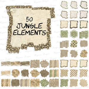 50 JUNGLE ELEMENTS