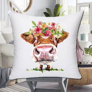 HOW NOW BROWN COW PILLOW