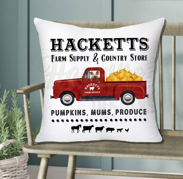 HACKETTS PUMPKIN TRUCK
