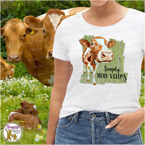SIMPLY MOO-VELOUS TEE SHIRT