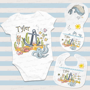 UNDER THE SEA BABY SET ~ BOY