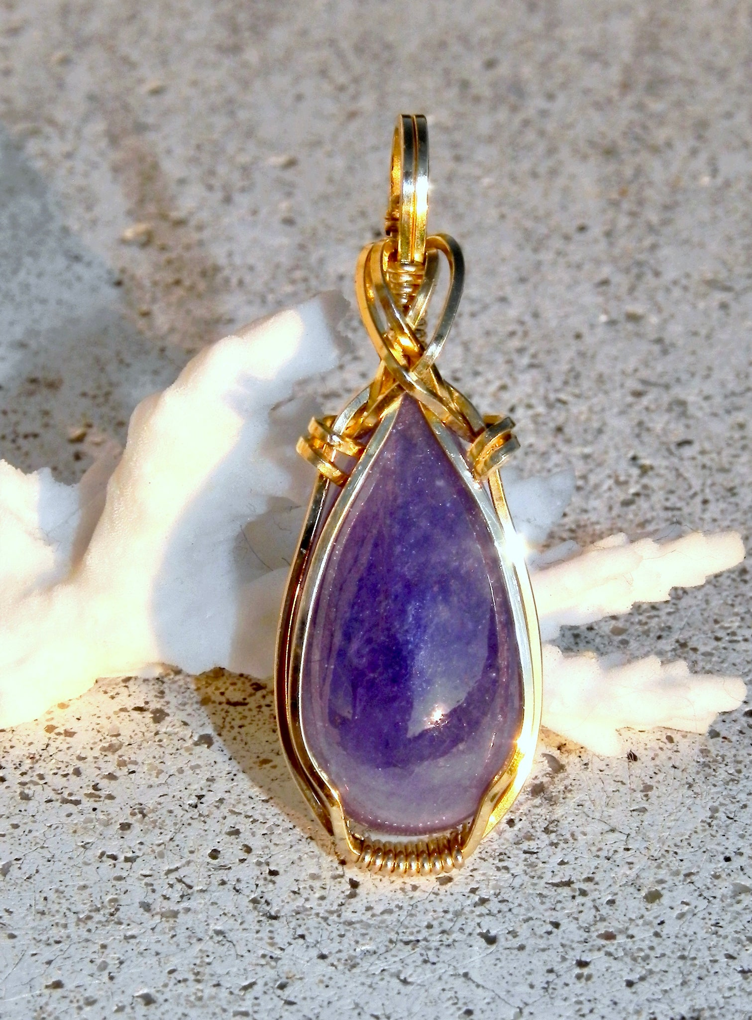 NATURAL TANZANITE JASPER 14k GF PENDANT