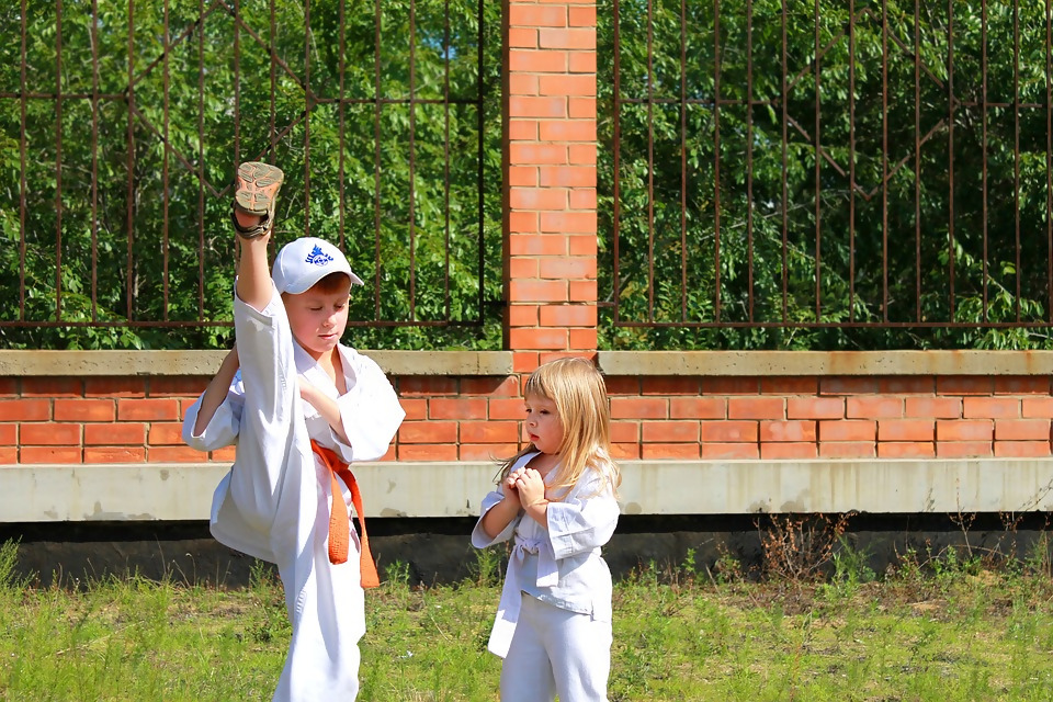 martial arts with kids