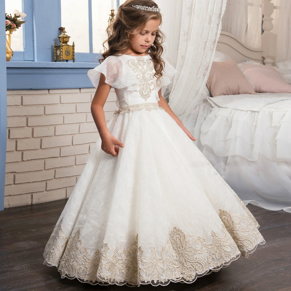 Girls RetroTippet Tulle Princess Party Dress