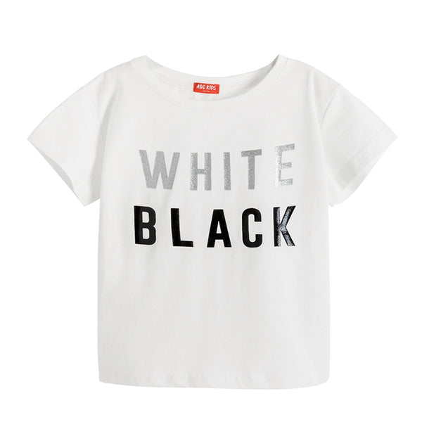 ABCKIDS Girls Summer Letter Print T-shirt