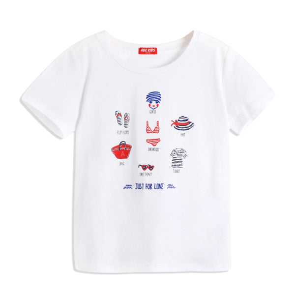 ABCKIDS Girls Stretchy Cotton Summer Tee