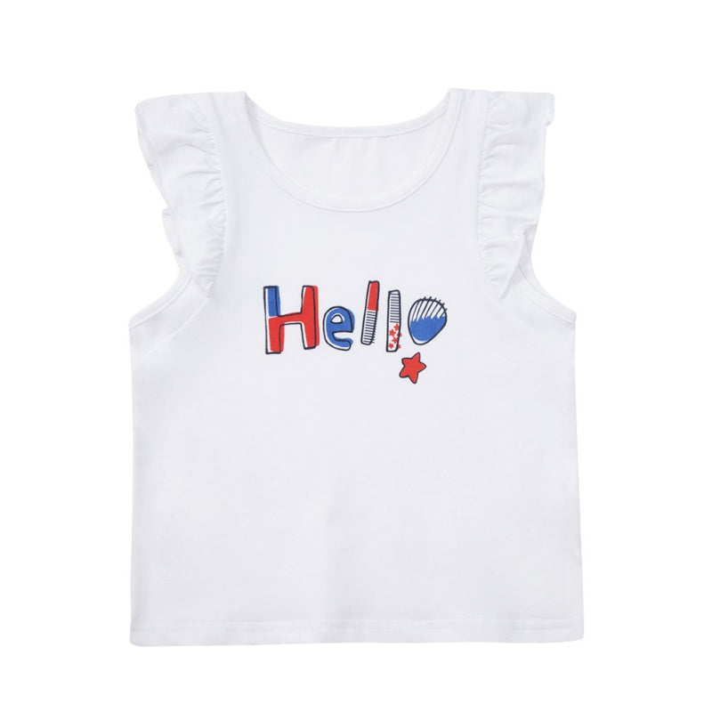 ABCKIDS Girls Summer Sleeveless Casual Tee