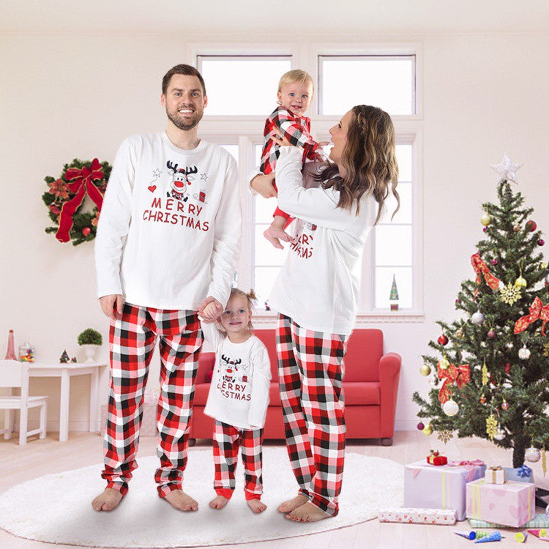 Classic Red Reindeer Christmas Pajamas for Family