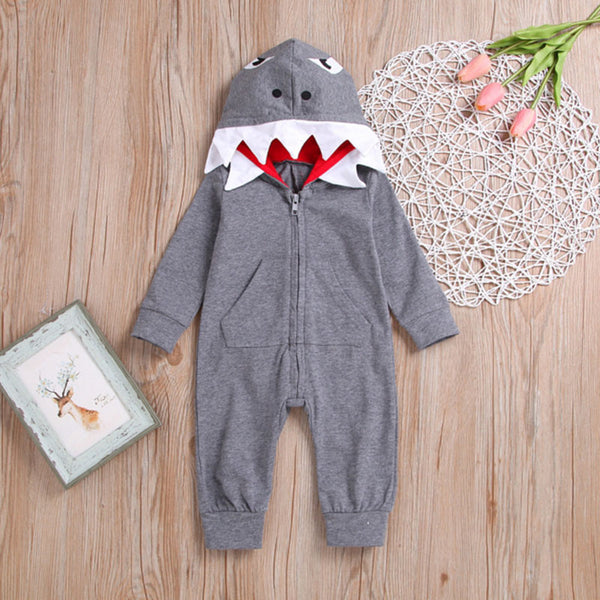 Baby Hoodie Long Sleeve Cartoon Jumpsuit