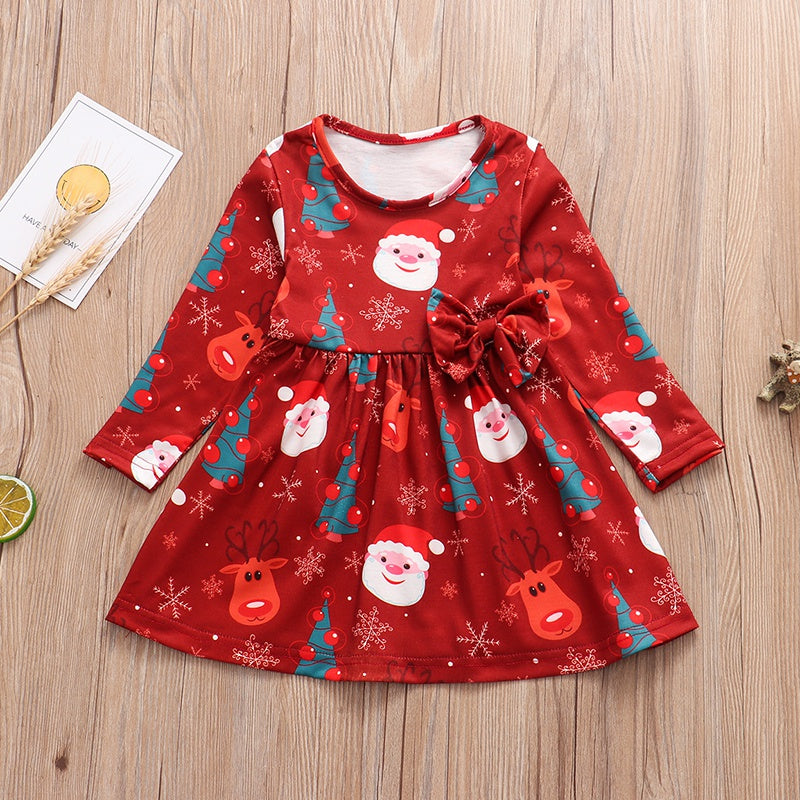 Girls Christmas Style Santa Claus Dresses