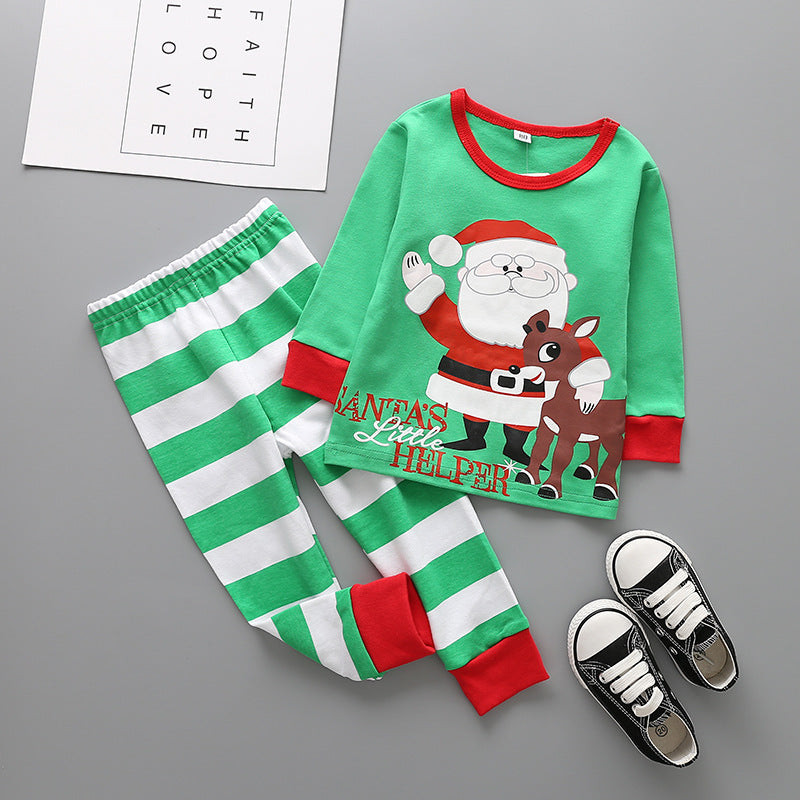 Christmas Style Printing Tops and Pants Set