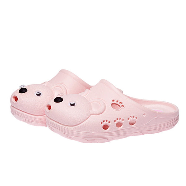 Summer Kid's Cartoon Bear Closed-Toe Beach Slipper
