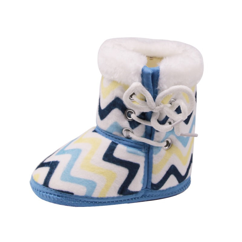 Baby Multicolored Printed Cotton Cloth Warm Boots