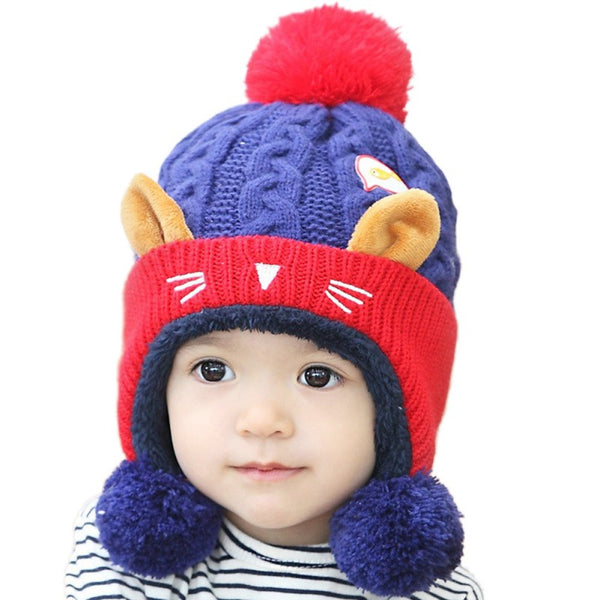 Winter Cute Cat Warm Knitting Hat