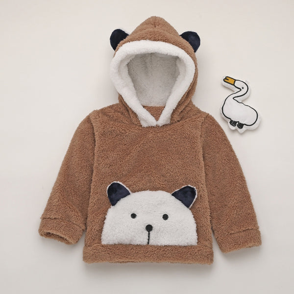Kids Cute Cartoon Bear Hoodie Tops