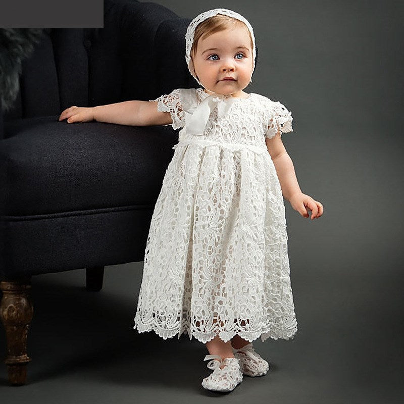 Girls Sweet Lace Princess Wedding Party Dress