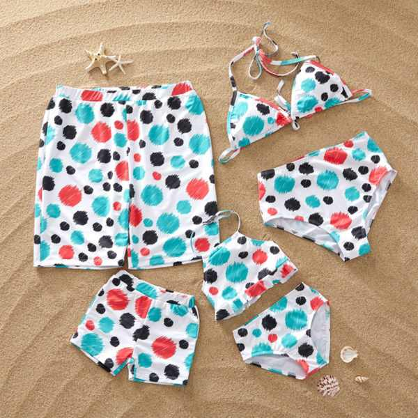Family Matching Summer Dotted Swimsuits