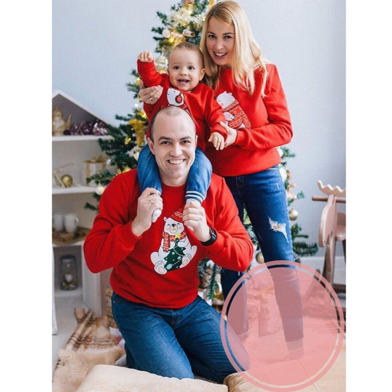 Christmas Style Snowman Print Family Matching Tops
