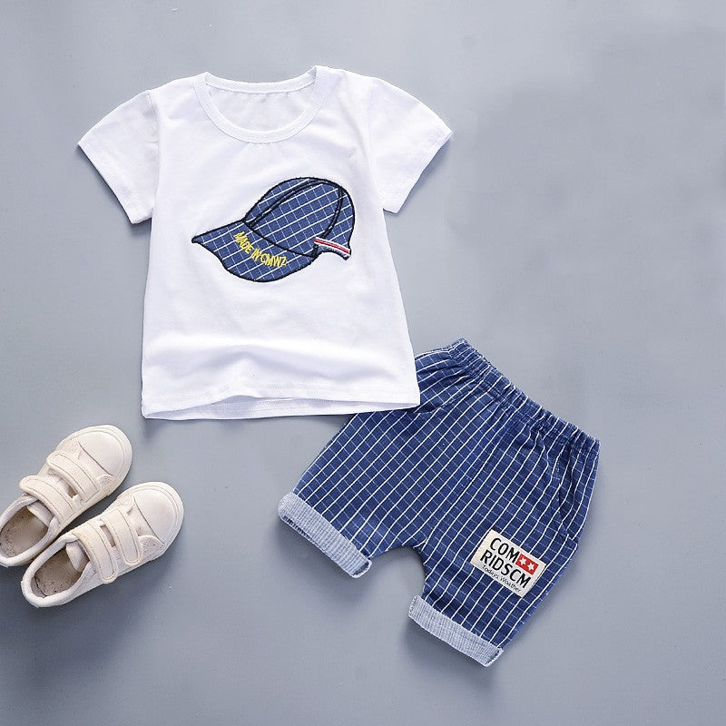 Boys Casual Cute Tops and Shorts Set