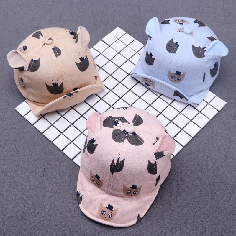 Unisex Cute Cartoon Cat Bucket Sun Hats