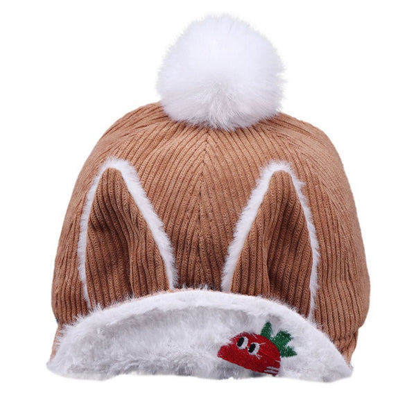 Kids Autumn Cute Soft Baseball Cap Breathable Cartoon Visors Hats