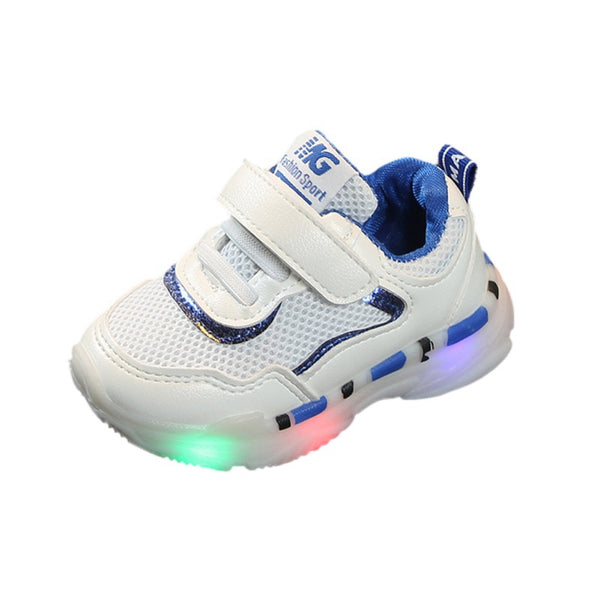 Kids Breathable Anti-Slip LED Sneakers