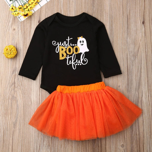 Halloween Ghost Rompers and Tulle Skirt Sets