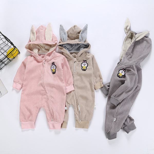 Baby Cute Rabbit Long Sleeves Jumpsuit