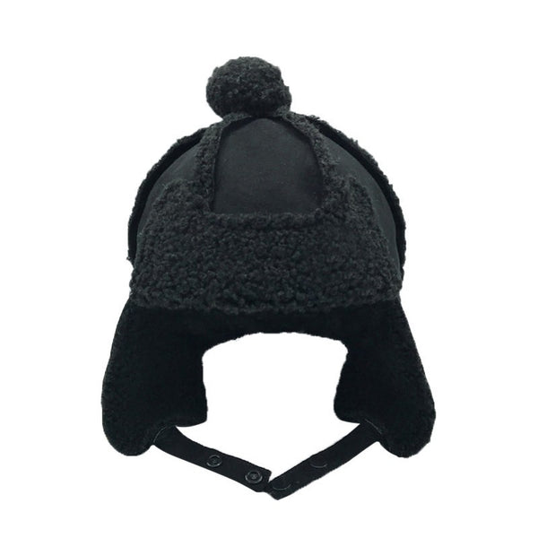 Winter Earmuffs Cap Warm Plush Soft Beanie Hat