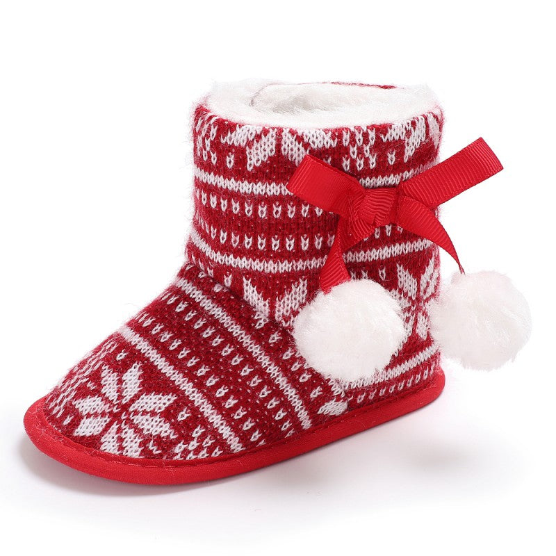 Baby Warm Kids Christmas Snow Boots