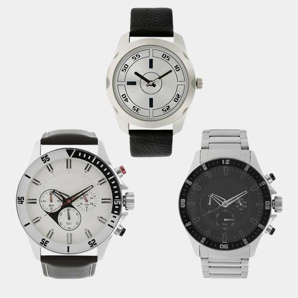COMBO OF 3 WRIST WATCHES - 1 Year  Warranty