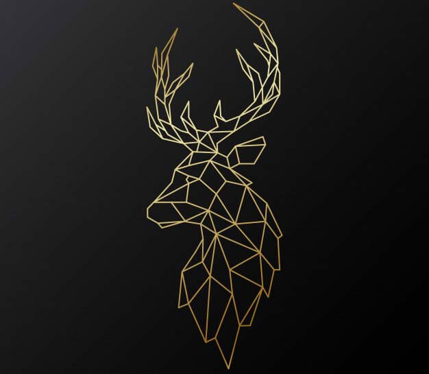 Raindeer Tattoo Design