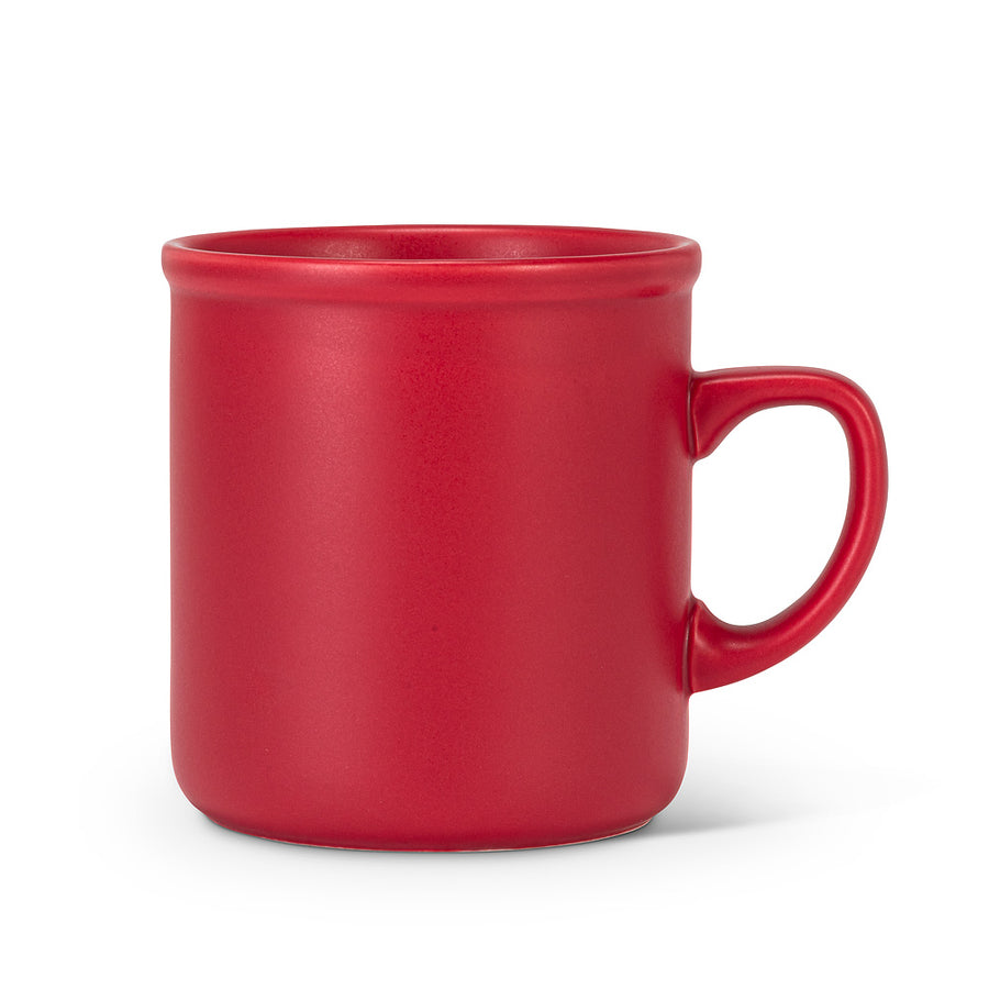 Abbott Classic Red Matte Mug, 12 oz.