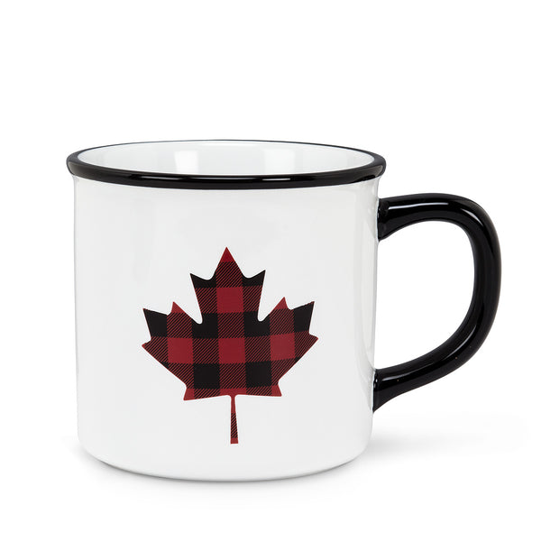 Abbott Plaid Maple Leaf Mug, 14 oz.