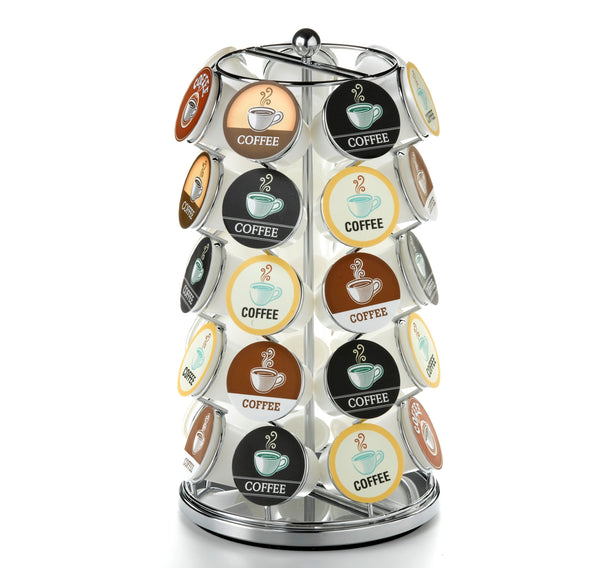 Nifty Solutions 35 Count Coffee Pod K-Cup Carousel, Chrome