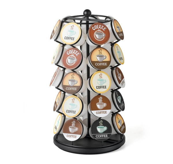 Nifty Solutions 35 Count Coffee Pod K-Cup Carousel, Black