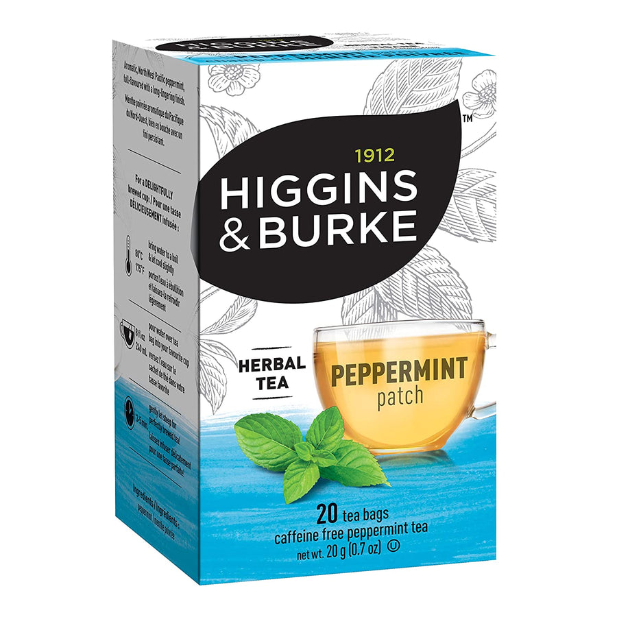 Higgins & Burke Peppermint Patch Filterbag Tea 20 Count