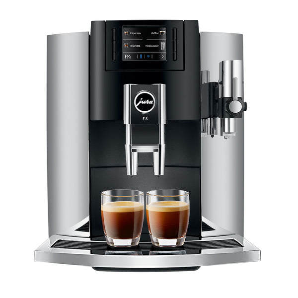 Jura E8 Automatic Espresso Machine, Chrome