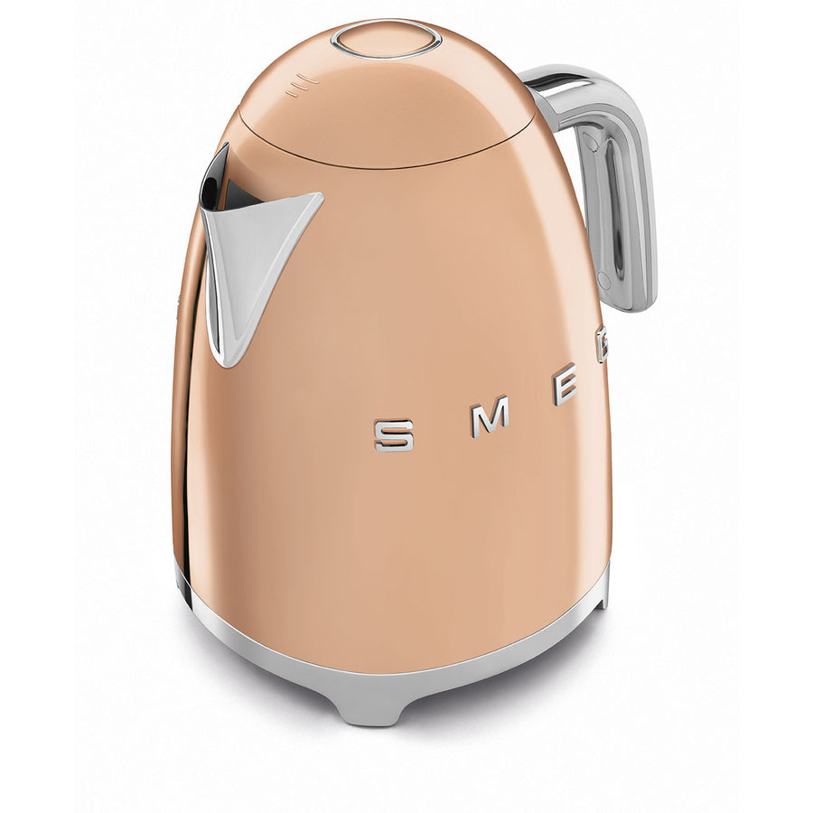 Smeg Rose Gold Electric Tea Kettle, from above