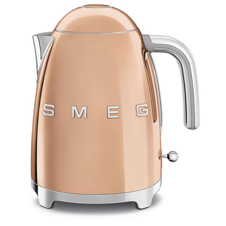 Smeg Rose Gold Electric Tea Kettle, Side View
