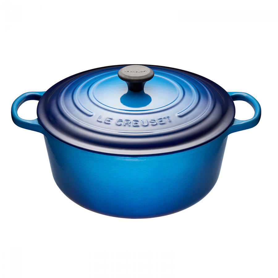 Le Creuset Signature Cast-Iron Round French Oven 6.7L - Blueberry