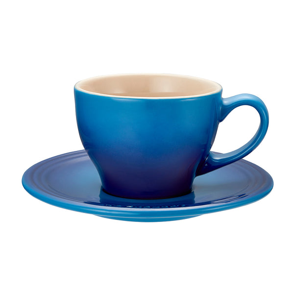 Le Creuset Stoneware Cappuccino Cups, Set of 2 - Blueberry