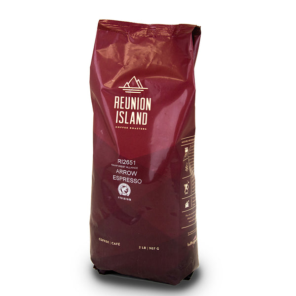 Reunion Island Arrow Espresso Whole Bean Coffee 2 lb