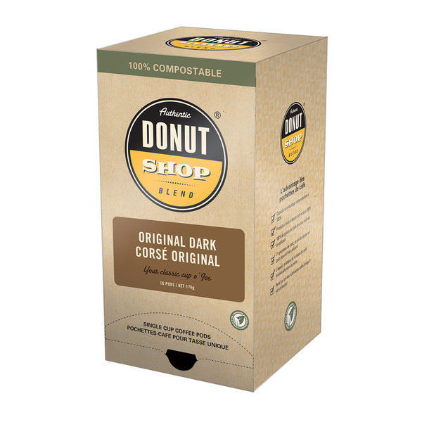 Authentic Donut Shop Original Dark Coffee Pods, 16 Pack