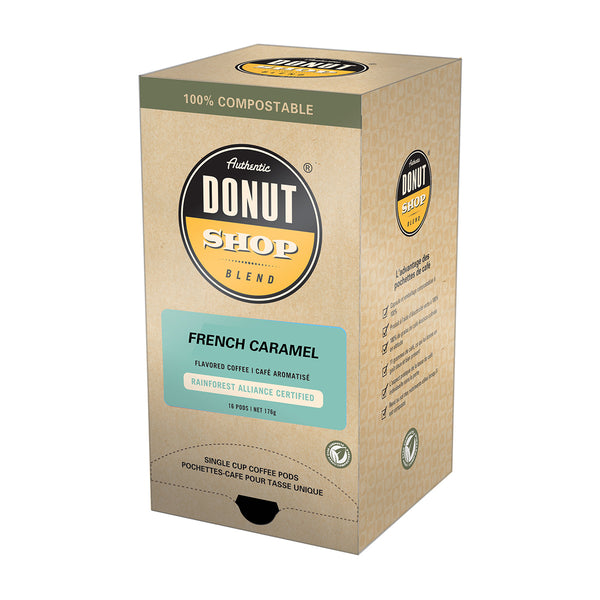 Authentic Donut Shop French Caramel Coffee Pods 16 Pack